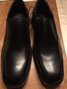 NIB Kenneth Cole REACTION New York Men's Slip-on Loafer Black Leather Size 10.5