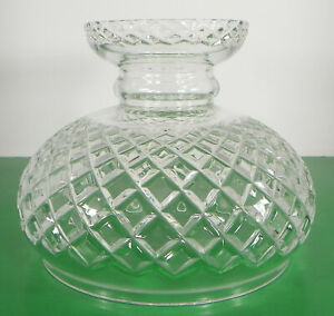 Criss-Cross-Crystal-Glass-Lamp-Shade-ONLY-Globe