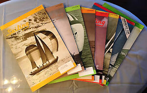 Lot-of-8-SAILING-magazines-1974-Boating-Watercraft