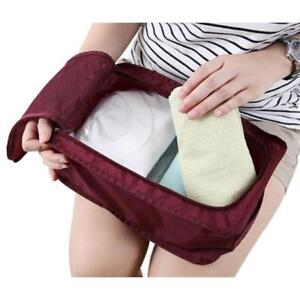 Portable-Waterproof-Travel-Outdoor-Organiser-Tote-Shoes-Zip-Pouch-Storage-Bag-Q
