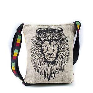 Casual-Lightweight-Rasta-JAH-Lion-Messenger-Sling-Bag-90462