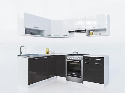 Küche lux l form 207x167cm hochglanz küchenzeile küchenblock komplettküche