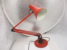 Vintage Industrial Desk Lamp Adjustable Workshop Light Made England Red Retro