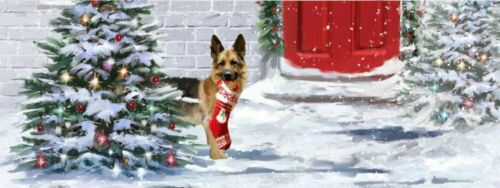 Holiday Dogs NIP Up With Paper Pop-Up Panoramic Christmas Card