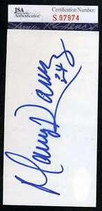 Manny Ramirez Rookie Era Jsa Coa Autographed 3x5 Index Card Hand Signed