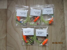 5x Running ledger sea fishing pennel rigs 4/0 Aberdeens good for cod bass etc