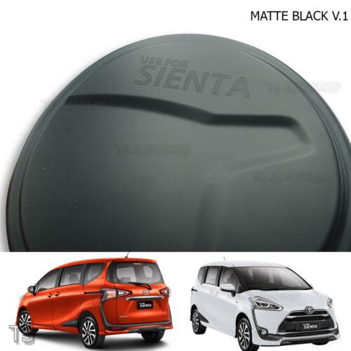 For Toyota Sienta Xp170 2017-18 Tank Cover Fuel Cap Trim Matte Black Trim 1 Pc