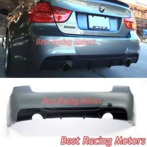 Performance-Style-Rear-Bumper-Dual-Exhaust-Fit-06-11-BMW-E90-4dr-3-Series-335i