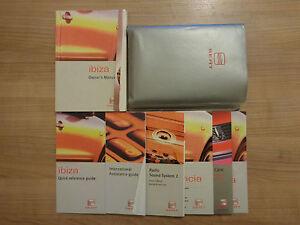 seat ibiza owners handbook manual and wallet 99 02 ebay rh ebay co uk seat ibiza owners manual pdf seat ibiza service manual