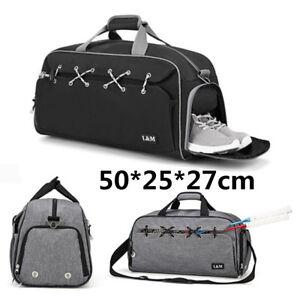 d5fc82717e23 Men Women Travel Outdoor Luggage Large Gym Duffle Sport Shoulder Bag ...