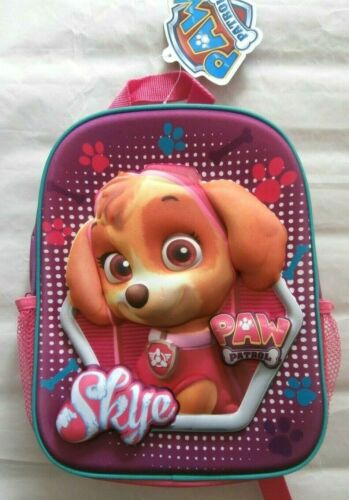 SMALL BNWT PAW PATROL GIRLS 3D BACKPACK SCHOOL BAG RUCKSACK