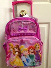 "Disney Princess 16"" inches Rolling Backpack - Licensed For KIDS - BRAND NEW"