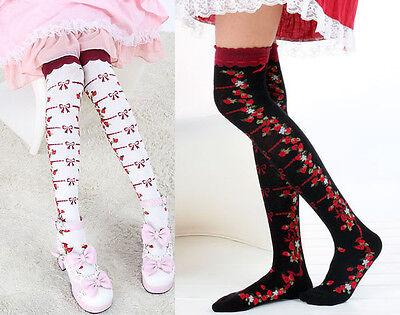 Cute Flower Strawberry Emo Lolita Legging Stocking Thighhigh Sock Dance Cosplay