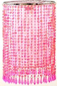 Leuchtenschirm-Starlet-Kunststoffperlen-und-organza-Dekoschirm-rosa-od-tuerkis