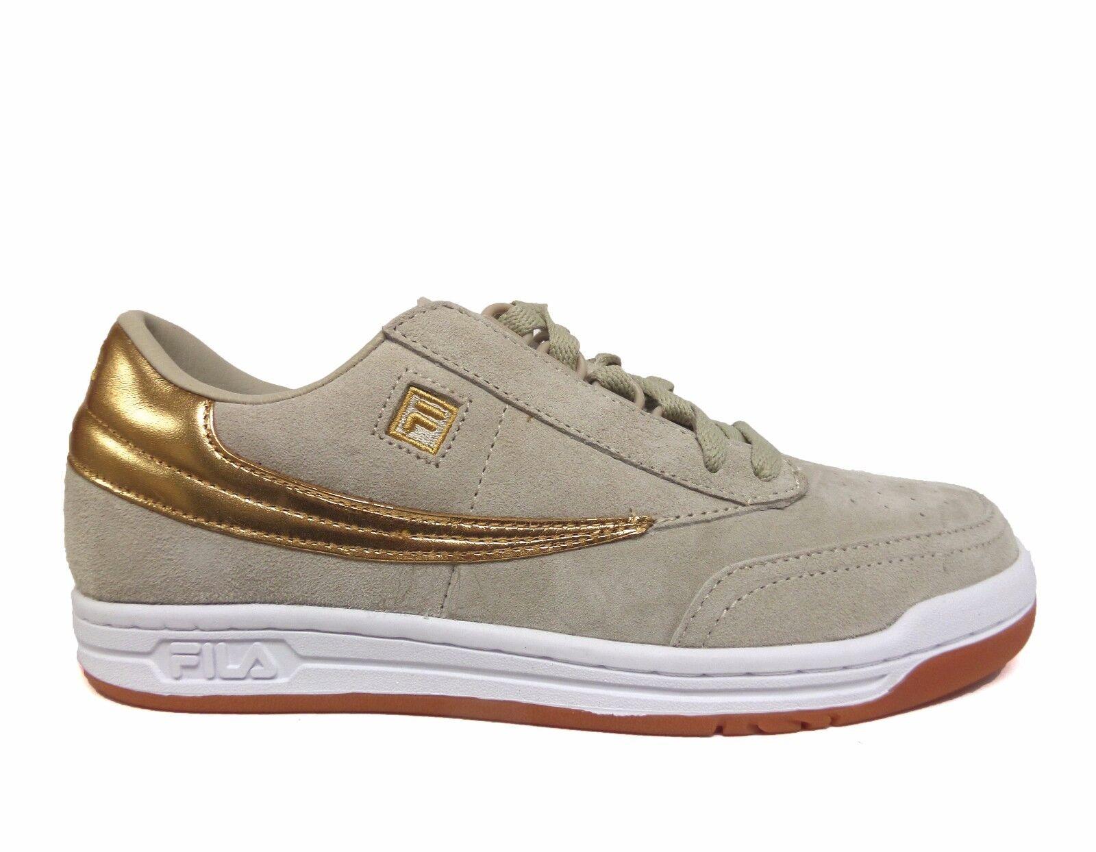 FILA Men's GOLD MINE ORIGINAL TENNIS Shoes Cream/Gold 1VT13058-926 b best-selling model of the brand