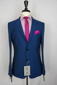 Men-039-s-Blue-Alexandre-Savile-Row-Slim-Fit-Suit-38-44-VB108