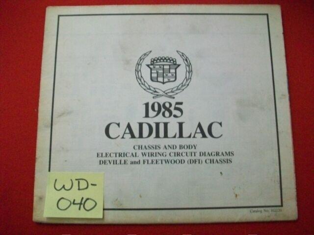 1985 Gm Cadillac Deville  U0026 Fleetwood  U0026quot  Dfi  Chassis U0026quot  Elec