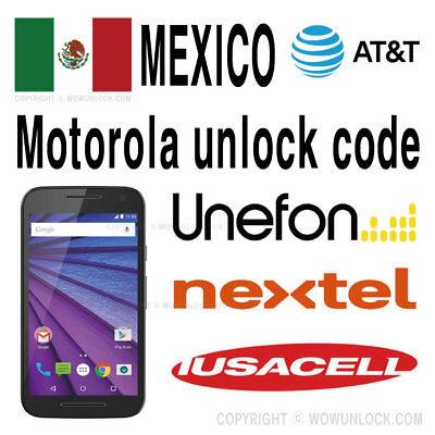 Mexico AT&T Unefon Nextel Iusacell Unlock Motorola Moto G4 G5 Plus Z Z2  Play E4 | eBay