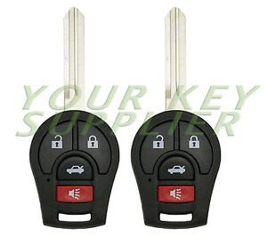 2 New Replacement Remote Head Key Fob For Nissan Sentra