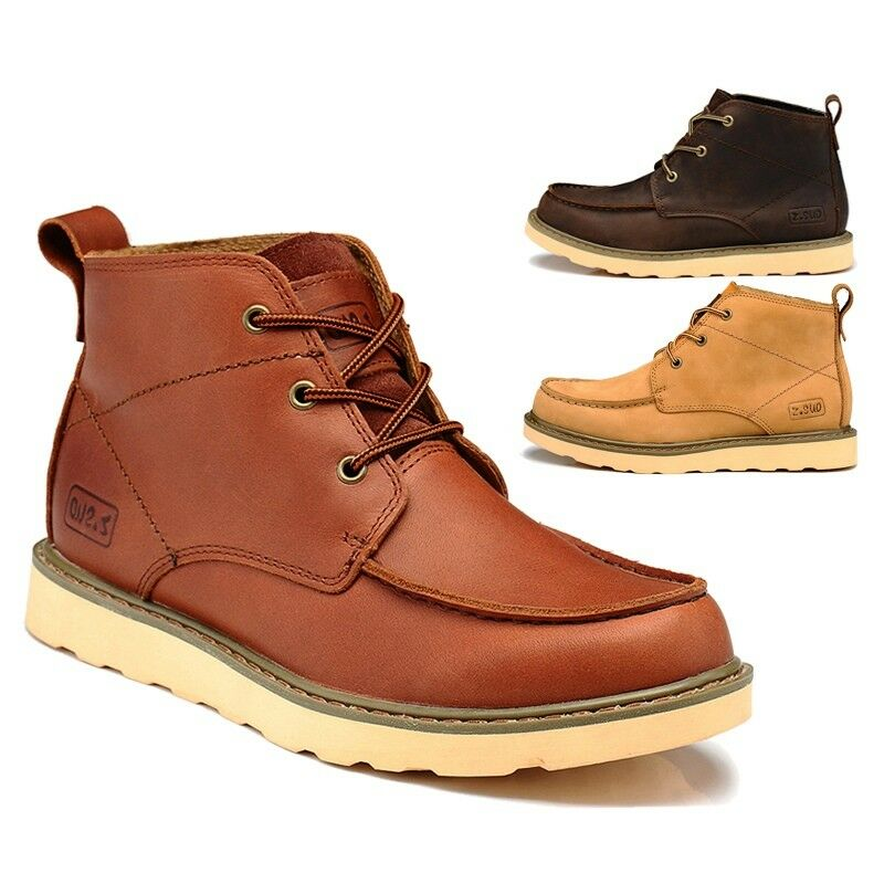 Latest Men Work Boots Fall Winter High Lace Ups Short Boot Fishing Hunting shoes