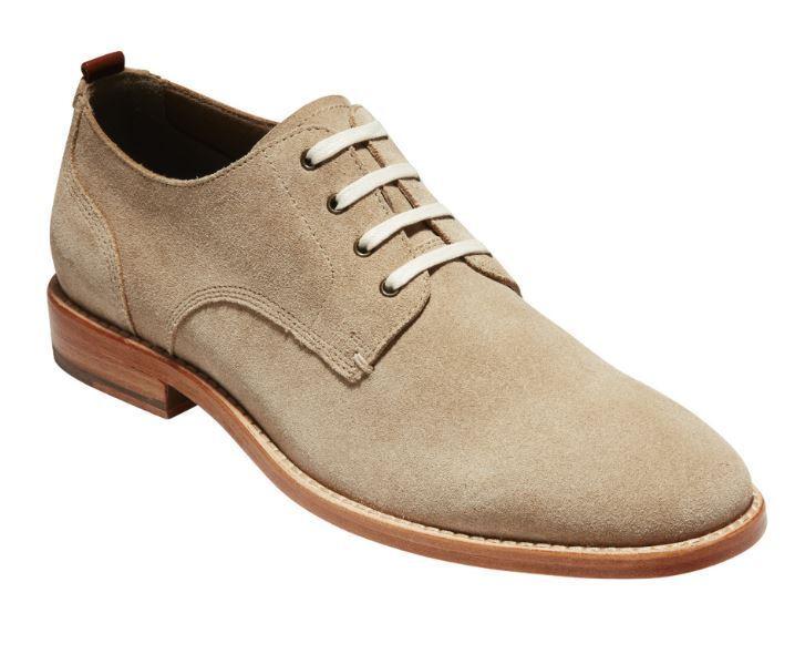 Nuevo COLE HAAN para hombre Feathercraft Grand Beige Gamuza básico Oxford Zapatos C29705