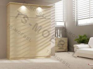 Legno Naturale Chiaro : Armadio letto parete letto brandina 50 w 1 160x200 cm legno