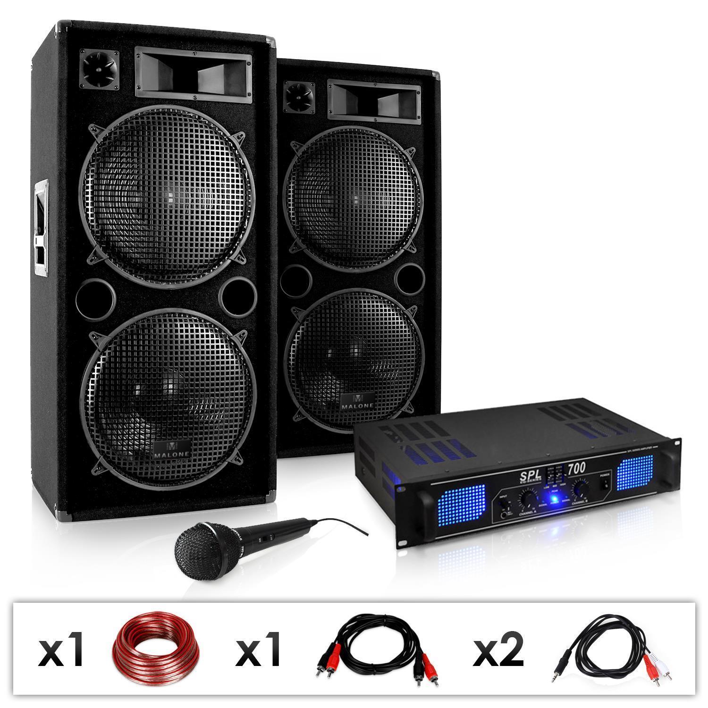 SET DJ PA DJ-26 - ETAPA POTENCIA ALTAVOCES SUBWOOFER MICRO 2000W EVENTOS BODAS
