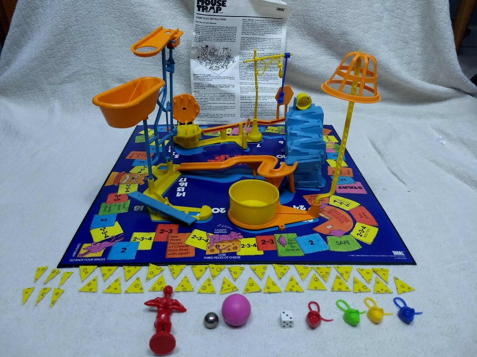 Vintage 1984 Ideal CBS Toys Mouse Trap Board Game Complete Excellent Condition