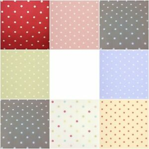 Clarke-and-Clarke-Dotty-Fabric-100-Cotton-Curtain-Blind-Upholstery-Craft-Spots
