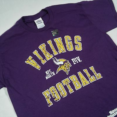 Minnesota Vikings Kids Large Tshirt Purple Nfl Football Short Sleeve *2u Tops & T-shirts