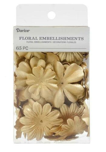 Darice 65 pc GOLD Petals Floral Embellishment Flowers Layers 30062037