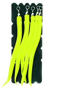 4//0 und 6//0 Mustad Einhänger Sand Eel Gelb für Mustad Fastach Main Line System