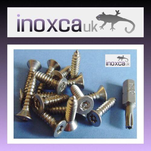 15 @ 4 x 50 mm ACCIAIO INOX TORX PIN AUTOFILETTANTE VITE A TESTA SVASATA+T20