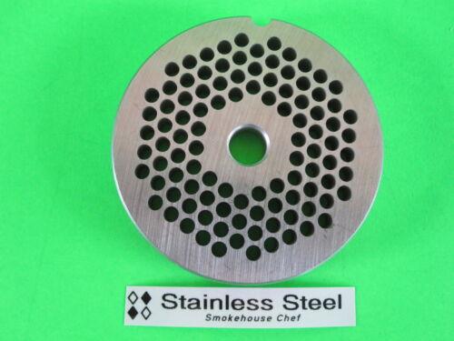 "#22 x 3//16/"" Meat Grinder Plate STAINLESS STEEL fits Hobart Tor-Rey LEM /& More"