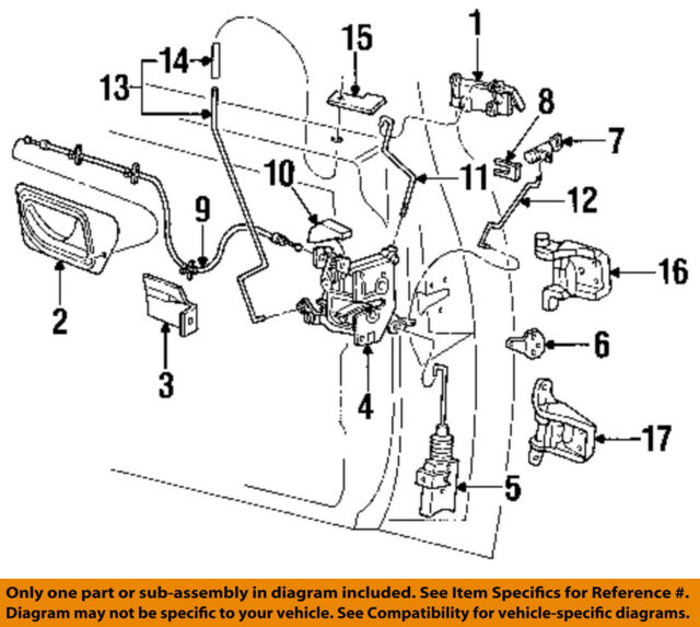 Ford OEM 93 98 Ranger Door Lock Actuator F77z10218a42a