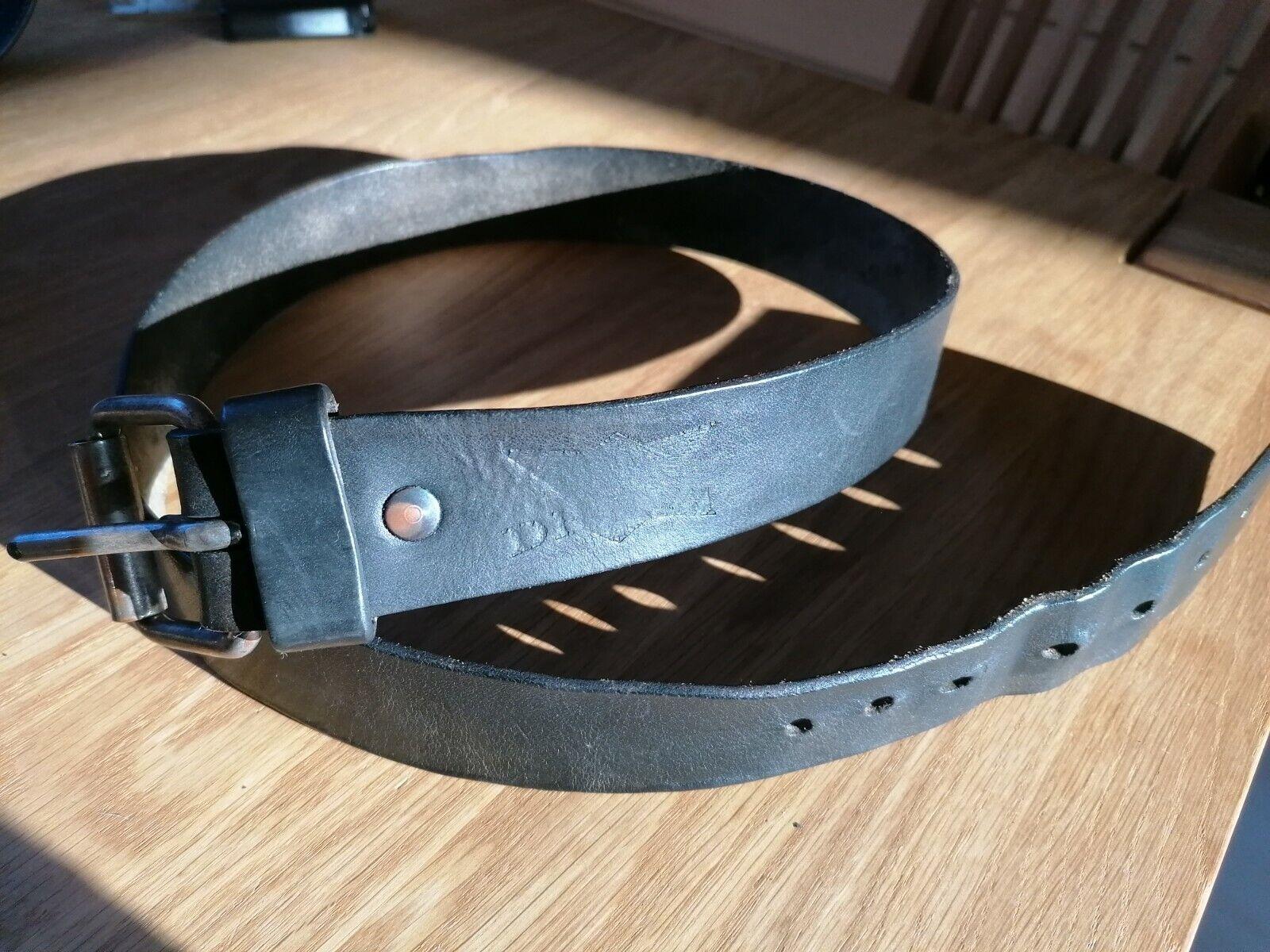 Cowboy Dream Ledergürtel schwarz Schnalle silber, TW 85, 3,8 cm breit