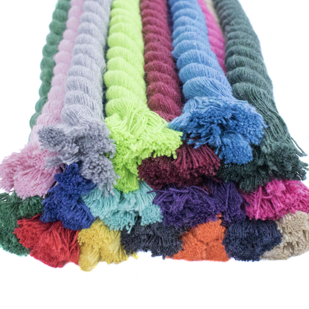 Premium Super Soft colord Twisted Cotton Rope - Multiple Lengths and Sizes