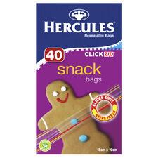 Hercules Clickzip Snack Bags Small 15cm x 10cm 40pk