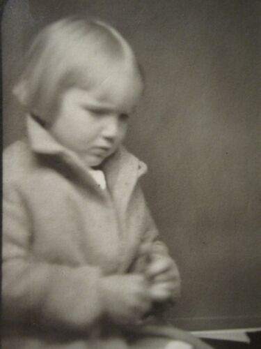 ANTIQUE VINTAGE PHOTOBOOTH ARTISTIC BLONDE GIRL PENNY FOR YOUR THOUGHTS PHOTO