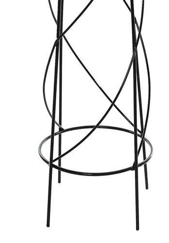 120cm Lund Metal Black Garden Obelisk Frame Climbing Plant Support Pyramid