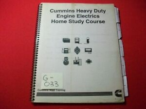 CUMMINS-TECHNICIAN-TRAINING-EDUCATIONAL-WORKBOOK-HEAVY-DUTY-ENGINE-ELECTRICS-VG
