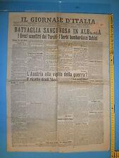 13/12/1912 IL GIORNALE D'ITALIA Battaglia sanguinosa in Albania 350