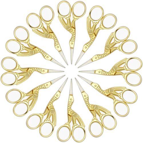 Multi-Purpose fantaisie Ciseaux plaqué or Poignée de couture broderie tricot Mince