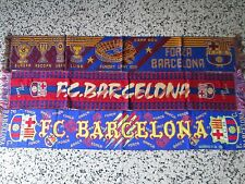lotto 3 sciarpe BARCELONA FC club football calcio scarf bufanda echarpe lot a
