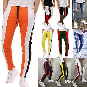 Mens-Sweatpants-Casual-Sports-Hip-Hop-Fitness-Joggers-Pants-Tracksuit-Bottoms