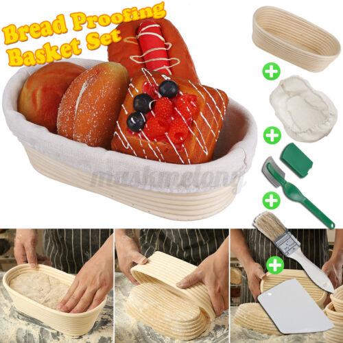 Oval Bread Proofing Basket Set Rattan Fermentation Dough Proofing Kit