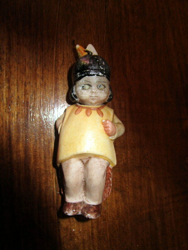 Antique bisque Nodder  bambola - american Ethnic- marked    Geruomoy  autorizzazione