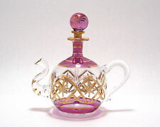 Egyptian Perfume Bottles - Premium Blown Glass Teapot - Purple  # 6-525-13