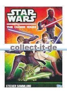 Topps-Star Wars-The Clone Wars sticker-álbum  </span>