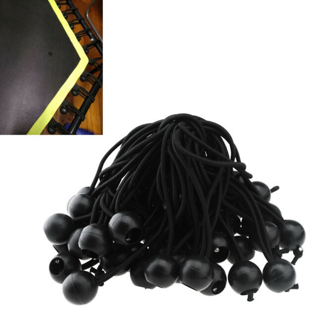 PLASTIC BLACK BUNGEE ELASTIC STOPS DOUBLE HOLES HOOKS SHOCK CORD ENDS STOPPERS